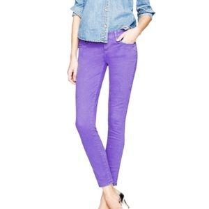 J. Crew Toothpick Purple Ankle Jeans Pants